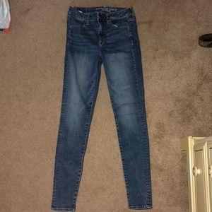 Blue jeans (regular) (high waisted)